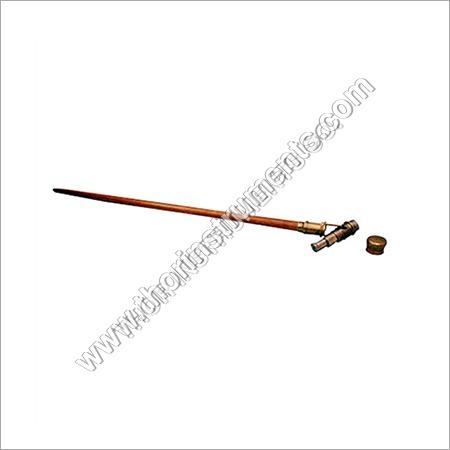 Nautical Walking Cane Brass Handle Wooden Stick
