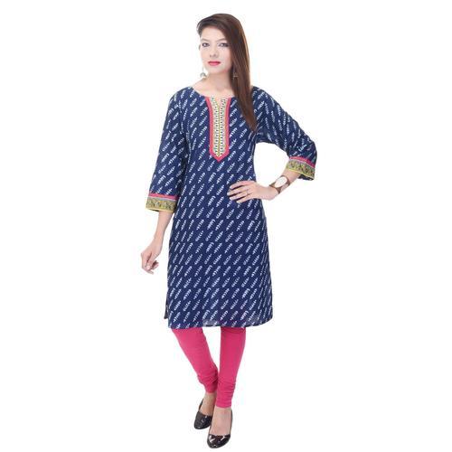 Indian Blue Cotton Kurti