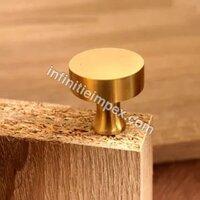 Brass Knobs - Round Gold Knob