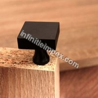 Solid Brass - Square Grey Knob