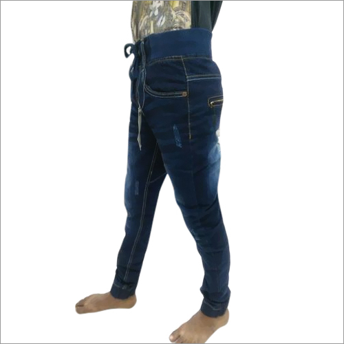 Blue Denim Slim Fit Jogger