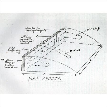 FRP Chajja Drawing