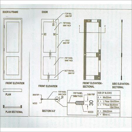 FRP Door Drawing