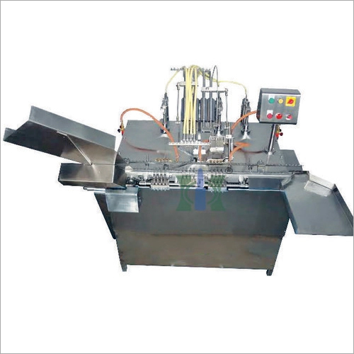 Automatic Four Head Closed Ampoule Filling And Sealing Machine