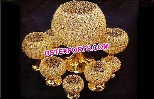Gold Crystal Wedding Centerpieces