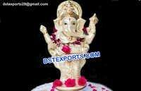Fiber Ganesha Standing Statue