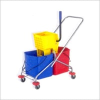 Side Press Double Mop Wringsr trolley