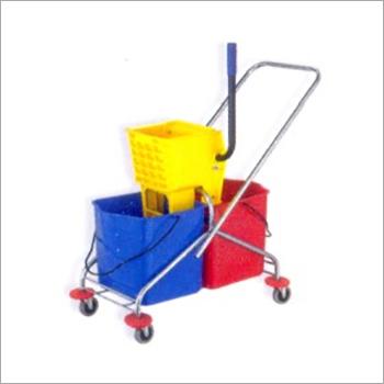 Side Press Double Mop Wringsr trolley