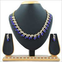 Blue Alloy Necklace Set