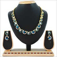 Multi Color Alloy Necklace Set