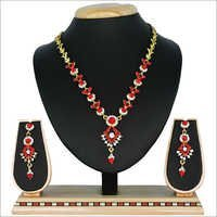 Red Alloy Necklace Set