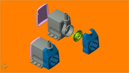 Cooler Pump Assembly Dies And Moulds