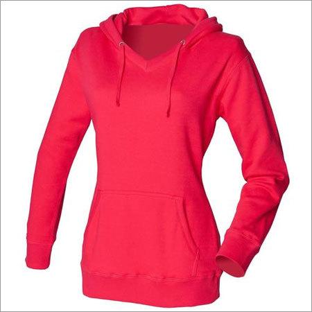 Plain Ladies Hooded Sweatshirts