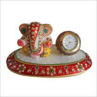 Marble Ganesh With Clock