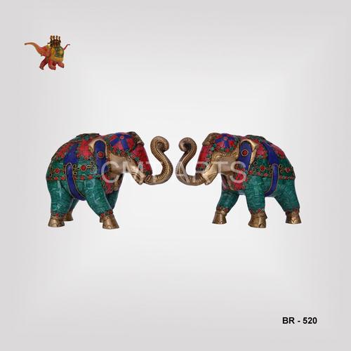 Brass Stone Elephant