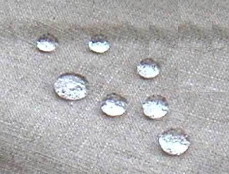 Water Repellant fabrics