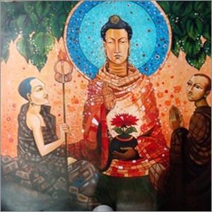 Acrylic Buddha Paintings