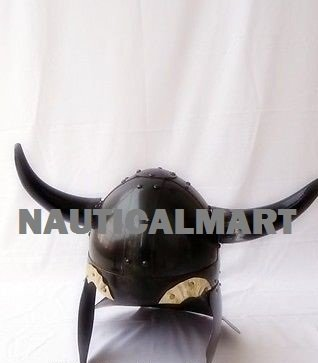Viking Barbarian Warrior Helmet Medieval with Horn Helmet