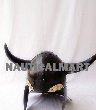 Viking Barbarian Warrior Helmet Medieval with Horn Helmet