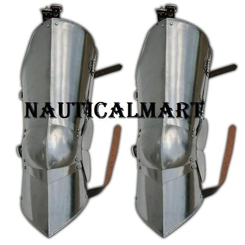 Medieval Knight Leg Knee Armor Poleyn Cuisse