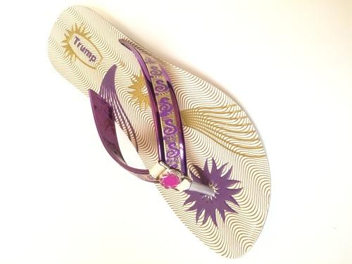 ladies purple slipper