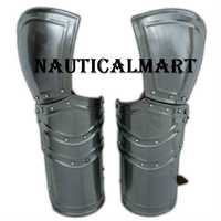 Medieval Battle Ready Armor Vambraces 18G Steel Pair