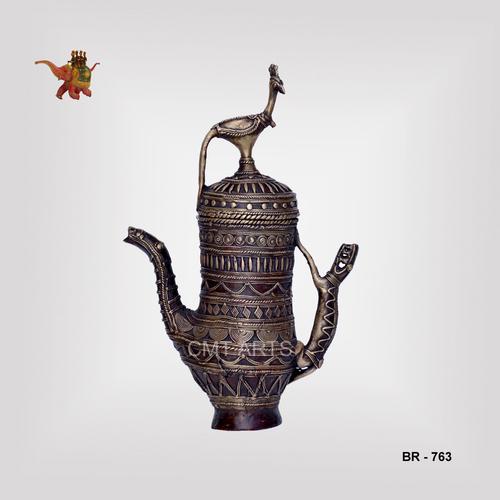 Brass Peacock Jar
