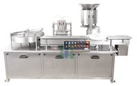 Six Head Vial Filling And Rubber Stoppering Machine