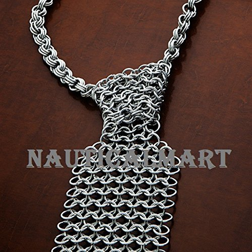 Geek Style Chainmail Necktie Wearable Armor Costume