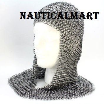 Medieval Knight Chainmail Armor Coif