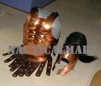 Copper Antique Greek Muscle Armor Cuirass With Helmet