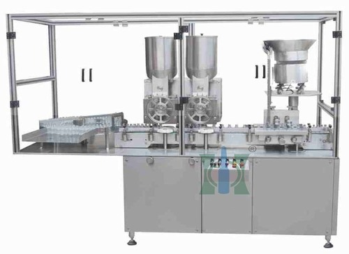 Sterile Dry Powder Filling With Rubber Stoppering Machine