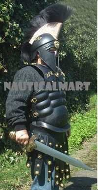 Medieval Larp Greek Muscle Armor With Leather Apron Belt