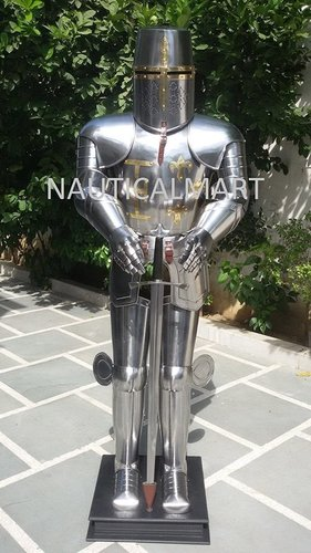Medieval Knight Combat Full Body Suit Of Armor - Armor Suit With Sword