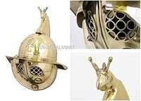 Thraex Brass Gladiator Helmet