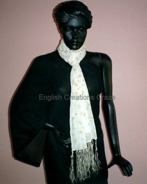 Cotton Woven With Triple Layer Scarves