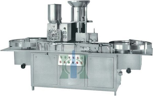 Powder Filling & Rubber Stoppering Machine