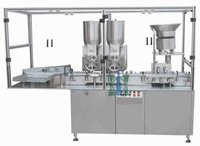 Double Wheel Sterile Powder Filling Stoppering Machine