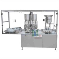 Double Wheel Sterile Powder Filling Machine For Pharmaceuticals