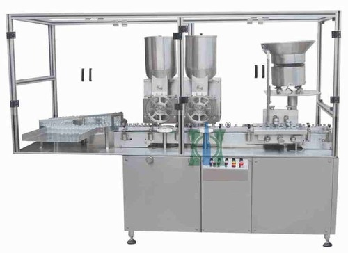 Double Wheel Aseptic Dry Powder Filling Stoppering Machine