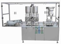 Double Wheel Dry Powder Filling Stoppering Machine