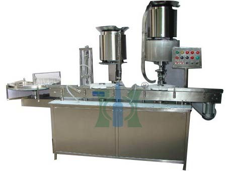 Aseptic Liquid Vial Filling With Rubber Stoppering Machine