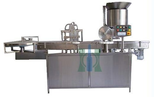 Four Head Liquid Vial Filling & Stoppering Machine