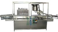 Six Head Liquid Vial Filling Rubber Stoppering Machine