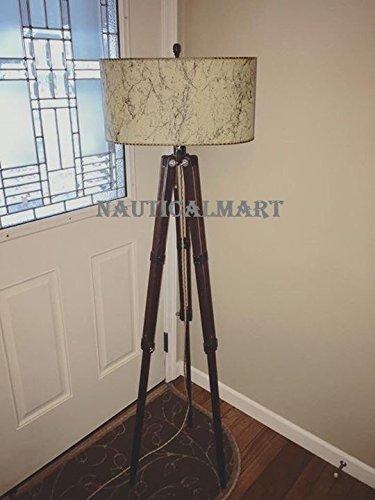 Nautical Vintage Tripod Floor Lamp