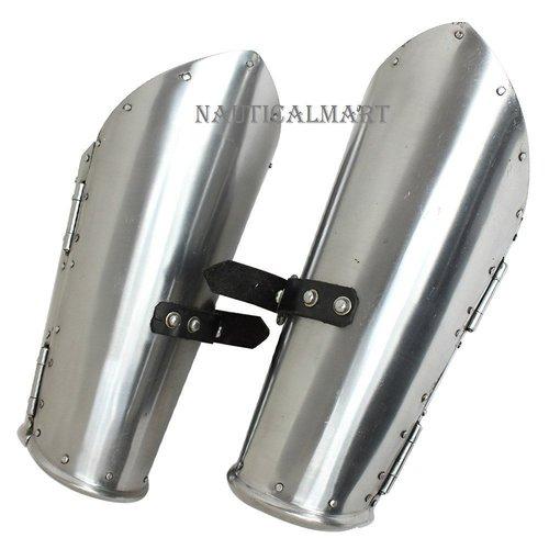 Cavalier Hinged Medieval Knightly Armor 16g Mild Steel Functional Bracers