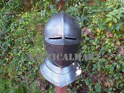 Medieval European Close Armor Helmet