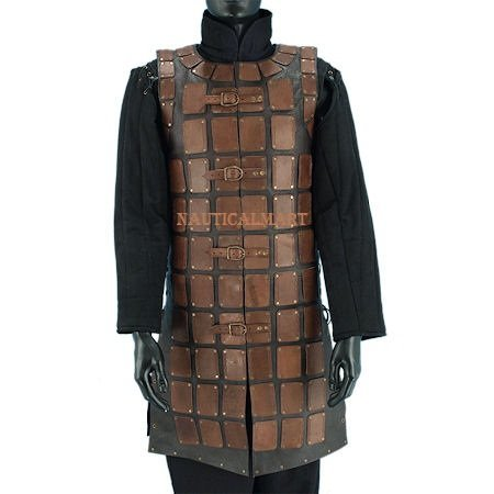 Brigandine Leather Jacket Medieval Costume