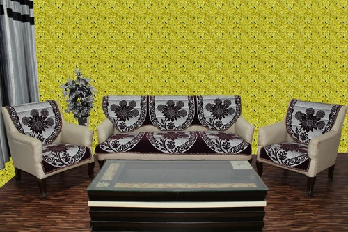 Chenille sofa cover rangoli