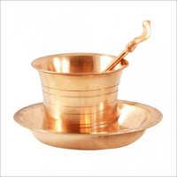 Copper Panchapatra Set